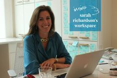 Sarah Richardson's Office via The Happy Space Project Workspace Issue (January Sarah Richardson, Space Projects, Interior Design Business, Design Interiors, Workspaces, January, Rocks, Paint, Inspired