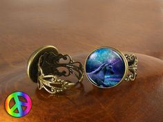 Unicorn Pegasus (4) Adjustable Ring Rings Vintage Antique Womens Jewelry Gift