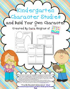 Kindergarten Character Studies - Common Core - This is a unit that focuses on character traits and physical traits of characters in stories. $