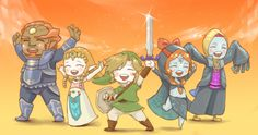 Chibis Twilight Princess (TP) cast They are all FAR TOO HAPPY what with the crazy heck going on in this game.