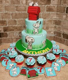 Snoopy Cake for Second Birthday Babys First Birthday