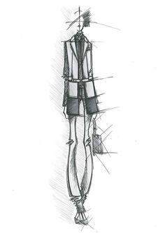 Fashion Sketch - fashion design drawing; fashion illustration // Massimiliano Giornetti