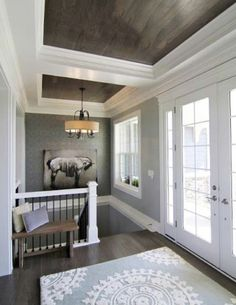 Love These Wood Ceilings Trimmed With White (Mix Wood Ceilings) Amazing Design