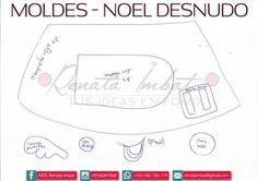 Papá Noel Fofucho en calzones con moldes - Marina Creativa Map, Yorkshire, Adhd, Facebook, Christmas, Christmas Crafts, Baby Dolls, Needle Felted Ornaments, Fabric Dolls