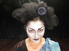 Maquiagem teatral para o espetáculo Andejos, da Trupe Andejos