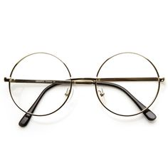 - Description - Measurements - Shipping - Mid sized round circular glasses that features a full metal frame and clear lenses. These round glasses are perfect for someone looking for a Lennon metal cir