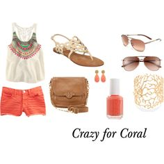 tribal print and coral