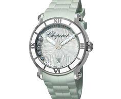 Chopard Women's Happy Sport Round White Waved Dial Watch ►► http://www.gemstoneslist.com/womens-watches/chopard-womens-watches.html?i=p