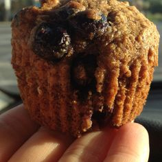 Clean Blueberry Muffins! Made with whole wheat flour and flax seed meal!