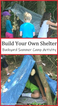 Survival Skills Challenge: Bauen Sie ein Tierheim – Little Kids Activities – Survival Skills Challenge: Build a shelter – Little Kids Activities – build Survival Shelter, Survival Food, Wilderness Survival, Outdoor Survival, Survival Prepping, Survival Kits, Survival Hacks, Survival Quotes, Survival Supplies