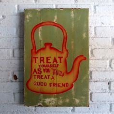 jadi baik.  Spray stencil on wood. 40 x 60 x 2 cm  #woodsign #homedecoration #homeandliving #vintage #alldecos #goodfriend