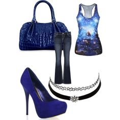 Starry Nite by kelly-desantis on Polyvore featuring polyvore, fashion, style, maurices and Charlotte Russe