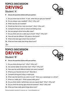 Driving, English, Learning English, Vocabulary, ESL, English Phrases, www.allthingstopi...