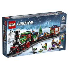 LEGO Creator Expert Winter Holiday Train 10254 Christmas Train Set with Full Circle Train Track, Locomotive, and Spinning Christmas Tree Toy pieces) in Building Sets. Spinning Christmas Tree, Christmas Train Set, Holiday Train, Christmas Village Display, Christmas Tree Toy, Christmas 2019, Christmas Gifts, Lego Winter, Train Lego