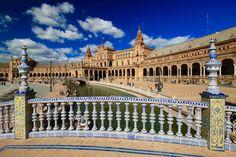 SEVILLA Plaza de Espana, Seville, Andalusia, Southern Spain