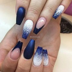 Winter Blues: 38 Awesome Blue Nail Art Designs