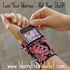 saw these and thought how cool for hands-free holiday shopping fun!  no more carrying around a bulky purse...this holds cell phone, money, keys, and credit cards!  all the shopping essentials!:)