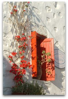 Red window in Chora. Amorgos Island. Greece. by Youssef Amaaou, via Flickr
