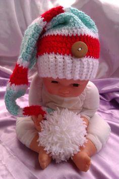 Zipfelmütze, Wichtelmütze Bommel Babyfotographie
