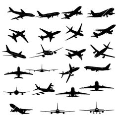 Similar Images, Stock Photos & Vectors of Airplane Collection vector is original artwork. Cross Finger Tattoos, Love Finger Tattoo, Aircraft Tattoo, Airplane Silhouette, Airplane Illustration, Airplane Tattoos, Map Tattoos, Tatoos, Airplane Vector