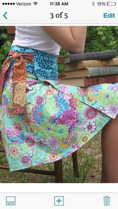 This is my original lovejill pattern for a little girls reversible wrap around…