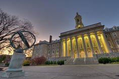 Old Main HDR photo with nice halo effect