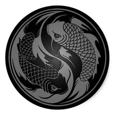 """Koi fish are the domesticated variety of common carp. Actually, the word """"koi"""" comes from the Japanese word that means """"carp"""". Outdoor koi ponds are relaxing. Yin Yang Tattoos, Tatuajes Yin Yang, Tribal Tattoos, Arte Yin Yang, Yin Yang Koi, Ying Y Yang, Carpe Coi, Art Koi, Yen Yang"""