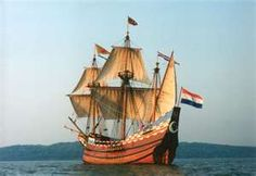 "c...The ""Half Moon"" is a full scale replica of the original Dutch ship of exploration sailed by Henry Hudson for the Dutch East India Company in 1609."