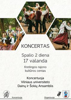 Poster for Vilnius university sond and dance ensamble event University, Polaroid Film, Dance, Poster, Dancing, Community College, Billboard, Colleges