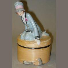 Bonhams 1793 : Deco Lady dressing table box