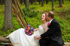 The colours just pop at this incredible wedding in the #CypressHills