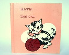 "Vintage 1969 ""Kate, the Cat"" Reading Book"