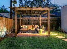 Cheap ideas for backyard patio patio design ideas on a budget backyard design ideas small back . cheap ideas for backyard patio Backyard Ideas For Small Yards, Cozy Backyard, Small Backyard Design, Backyard Privacy, Backyard Sheds, Small Backyard Landscaping, Patio Design, Backyard Pools, Patio Fence