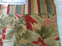 Fabric Samples quilting crafting chair upholstery multi color tropical floral  #uffnertextilecorp