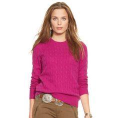Slim-Fit Cabled Cashmere - Polo Ralph Lauren Cashmere - RalphLauren.com