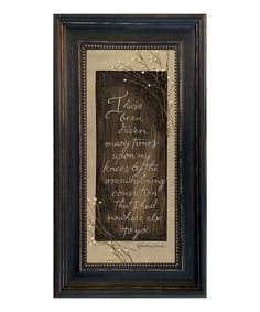 Look at this 'I Have Been Driven' Framed Wall Art on #zulily today!