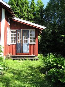 Red Cottage, Cottage Style, Sweden House, Red Houses, Cabins And Cottages, Tiny Living, Perfect Place, Countryside, Tiny House