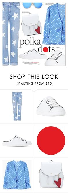 """So Dotty: Polka Dots"" by monica-dick ❤ liked on Polyvore featuring STELLA McCARTNEY, Dune Black, Wall Pops!, MANGO, PolkaDots and polyvoreeditorial"
