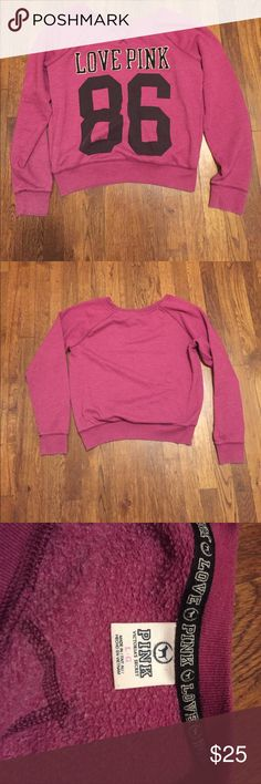 Victoria's Secret Pink Sweatshirt Cute and comfy throwover sweatshirt from Victoria's Secret Pink PINK Other
