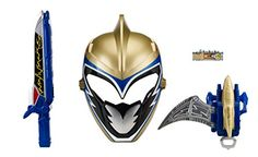 This Power Rangers Dino Charge Gold Ranger Hero Set includes a mask, morpher, saber and one Dino Charger. This Power Rangers set is a great role play training set, can be used with other Dino Charge i