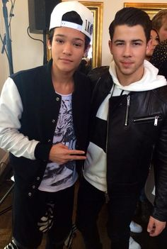 Omar Rudberg and Nick Jonas