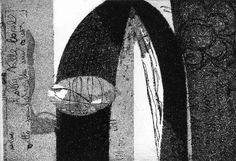 """The letter"", small intaglio print, 2008.- Ksenija Tomičić"