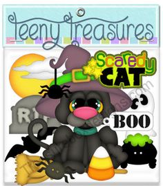 Teeny Treasures (Scaredy Cat)  - Treasure Box Designs Patterns & Cutting Files (SVG,WPC,GSD,DXF,AI,JPEG)