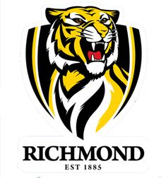 "Our AFL footy team that we are members of. Love going to the footy and sitting with the cheer squad. Love checking out the ""Tiger Den"" supporter superstore. C'arn the mighty tigers! Richmond Afl, Richmond Football Club, Brisbane, Aussie Memes, Team Logo Design, Football Logo Design, Mascot Design, Tiger Team, Australian Football"