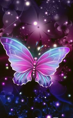 Purple Butterfly Wallpaper, Butterfly Background, Butterfly Wall Art, Butterfly Painting, Cute Wallpaper Backgrounds, Pretty Wallpapers, Galaxy Wallpaper, Beautiful Flower Drawings, Beautiful Butterflies