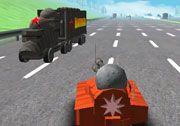3D Araba Oyunları kategorisinde yer alan 3D Otoban Canavarı oyununda, ilerlerken otobanda bulunan diğer arabalara çarpmamalı ve yoldan çıkmamalısınız. Unity 3D tabanlı olan Otoban Canavarı oyunda aracınızı geliştirebilme, modifiye edebilme ya da yeni bir savaş arabası satın alabilme imkanınız bulunuyor.  http://www.3doyuncu.com/3d-otoban-canavari/