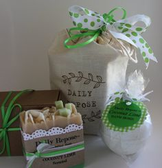 COCONUT LIME Gift Set  Scented Soap Bath Bomb by DailyRepose, $13.00