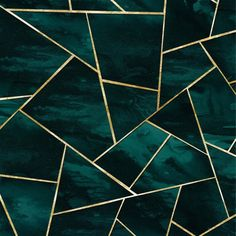 Dark Teal Ink Gold Geometric Glam Comforters by Anita's & Bella's Art - Queen: x Teal And Gold, Dark Teal, Gold Green Wallpaper, Geometric Wallpaper Iphone, Black And Gold Aesthetic, Slytherin Aesthetic, Teal Background, Aesthetic Colors, Geometric Art