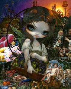 Unseelie Court Gluttony Seven Deadly Sins by Jasmine Becket-Griffith gothic fairy by Jasmine Becket-Griffith new contemporary art lowbrow art sin 7 sins