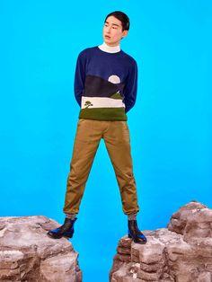 Kim Sang Woo for Maison Kitsuné Paris Fashion Week 2016 Menswear